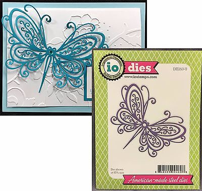 Open Scroll Butterfly metal die Impression Obsession Dies DIE253-U Insects - Insect Crafts