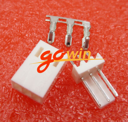 10sets KF2510-3P 3Pin Connector Kits 2.54mm Male Pin Header+Terminal+Female