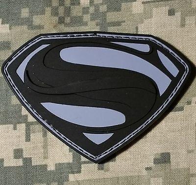 SUPERMAN ACU PVC MORALE VELCRO® BRAND FASTENER PATCH
