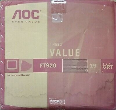 NEW AOC FT920 PureFlat 19-in High Resolution CRT Retro Gaming Display
