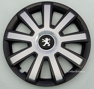 set of 4x14 wheel trims to fit peugeot 107 partner 306 106 ebay. Black Bedroom Furniture Sets. Home Design Ideas