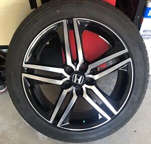"19"" Honda Black Machined Rims"