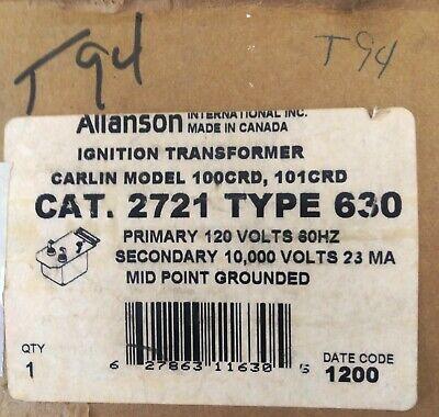 Allanson Ignition Transformer Cat 2721 Type 630