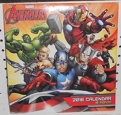 Avengers 2016    16 Month Calendar   Sealed  10X10