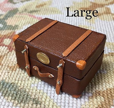 Pat Tyler Dollhouse Miniature Bag Luggage Suitcase Valise Grip Hat Box p541