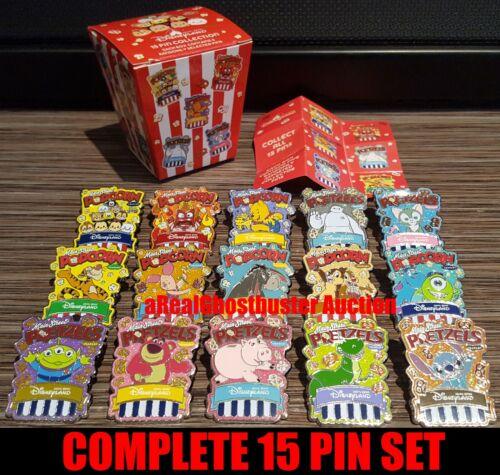 2018 Hong Kong Disneyland Complete 15 Pin Main Street Popcorn & Pretzel Set