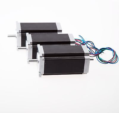 3pcs Nema23 Stepper Motor 425oz.in 23hs9430b Dual Shaft Cnc Cutters