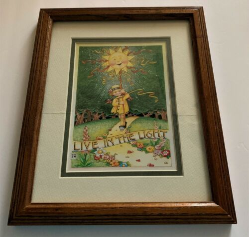 Mary Engelbreit LIVE IN THE LIGHT MATTED & FRAMED PRINT Art Wood Glass