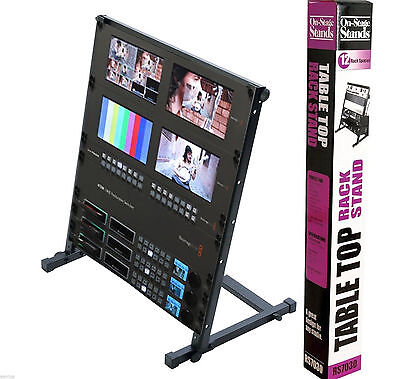 OnStage 12U Open Rack Mount Stand for Production Studio Monitor Mixers Switchers
