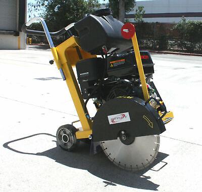 Push Walk Behind Concrete Brick Slab Cutting 16 Saw Blade 420cc 13hp Gas Engine