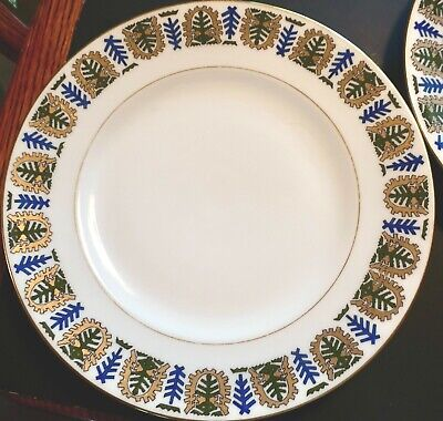"""KORNILOW BROS IMPERIAL RUSSIA PORCELAIN LUNCHEON PLATE~ PATTERN 123 ~ 9 1/2"""" ~ L"""