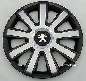 set of 4x15 wheel trims to fit peugeot 207 ebay. Black Bedroom Furniture Sets. Home Design Ideas