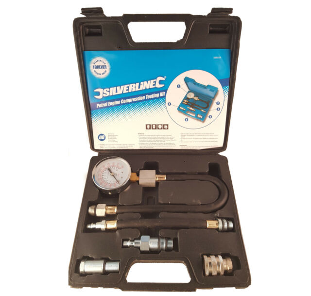 Automotive Petrol Engine Compression Tester Test Kit Gauge Car Motorcycle 598559