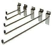 SLATWALL DISPLAY BOARD HOOKS PRONG PEGS ACCESSORY RETAIL SHOP DISPLAY ARMS - BOX OF 100 - many sizes