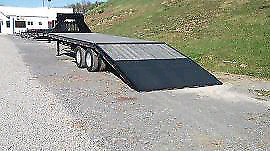 2014 PJ gooseneck hydraulic beavertail trailer