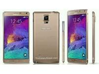 Samsung Galaxy Note 4 32gb Gold Mint Condition Unlocked
