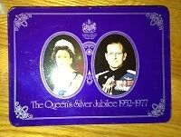 Queens Silver Jubilee cookie tin for sale London Ontario image 1