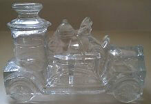 Avor Glass Fire Engine Candy Container