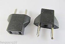 US to EU / RU Travel Power Charger Outlet Plug Converter Adapter