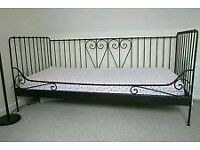 Ikea black cast iron style day bed
