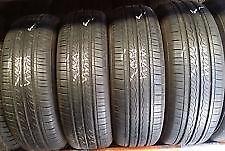 185/60R15Kumho Solus KH25 Set of 4 Used allseason tires 75%tread left Free Installation and Balance