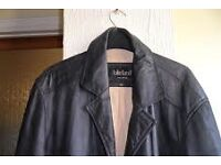 Black LAKELAND Fine Leather gent's jacket in perfect condition. Large.