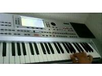 P80 korg for sale very good condition comes with memory and desks cable bags