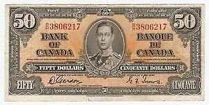Buying old paper bills, paper money, Canadian and us, silver