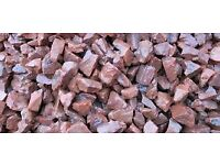 20 mm red DARK driveway and gravel chips/ stones/ gravel