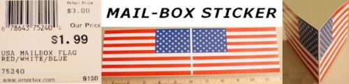 "USA Flag Patriotic 2-Sided MAILBOX STICKER 6"" x 3.25"" each"