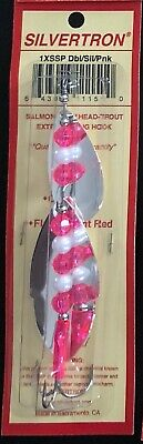 """1 SILVERTRON DOUBLE BLADED SALMON SPINNER /""""BLONDE/"""" ea"""