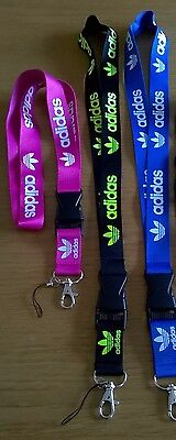 LANYARD PASS HOLDER ID BADGE HOLDER ADIDAS LOGO NECK STRAP MOBILE PHONE COLOURS