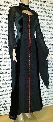 Gothic Kleid *XTRA-X* Schwarz Rot Vampire Victorian Witch Mittelalter Zipfel WGT