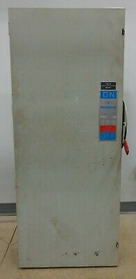 400 Amp Westinghouse Heavy Duty Safety Switch 600v Acdc 3ph 350h.p. Cat. Hf365
