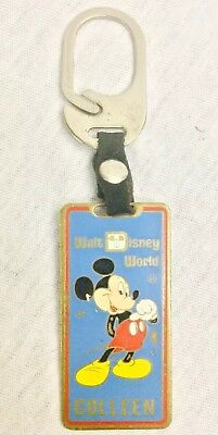 Walt Disney World Mickey Mouse Key Chain Vintage Colleen Personal Name Keyring