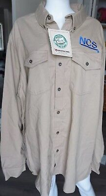 Big Bill Work Wear Mens Khaki Button Down Flame Resistant Shirt NWT Size (Big Bill Khaki)