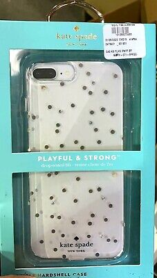 Kate Spade New York Case For iPhone 7 Plus iPhone 8 Plus Gold Dots Gems