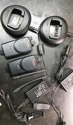 2 Motorola BPR40 MAG ONE vhf 8 Ch 4 Watt Two Way Radio & Chargers.  Look great