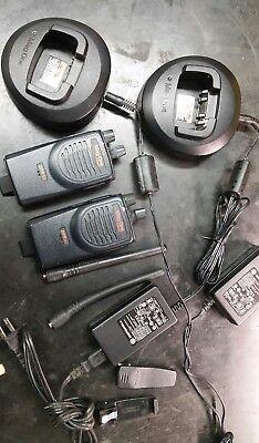2 Motorola Bpr40 Mag One Vhf 8 Ch 4 Watt Two Way Radio Chargers. Likenew