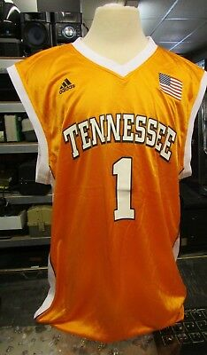 Mens Adidas NCAA TENNESSEE VOLUNTEERS Basketball Replica Jersey SZ L Large #1 1 Orange Replica Basketball Jersey