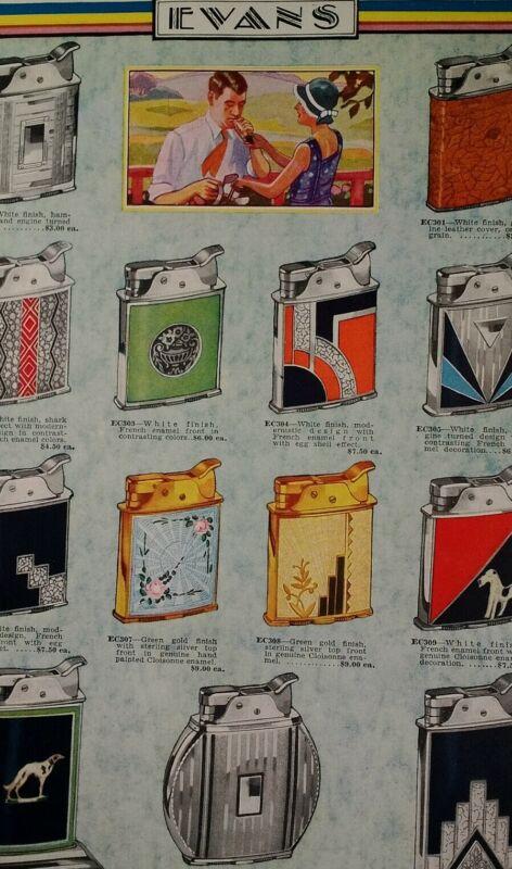 Cigarette Lighters 1931 Catalog Page Krower New Orleans LA Rare VHTF Art Deco