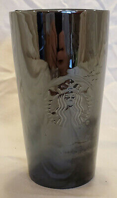 Starbucks Black Glass Travel Mug with Lid, New