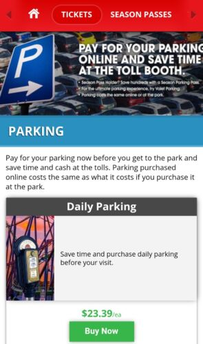 Parking Pass for ALL SIX FLAGS PARKS 2018! + SEASON MEALS! Get it Today + SAVE!!