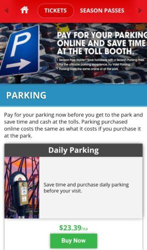 Купить Any Six Flags Park! Great Adventure Magic Mountain etc Parking Pass 2018!