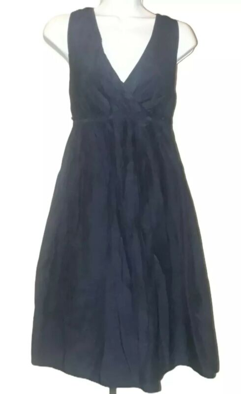 Gap Black Cotton Silk Blend Sleeveless Maternity Dress Size Medium