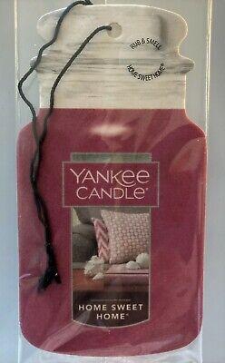 New Yankee Candle Fragrance-Infused Car Jar Air Freshener Home Sweet Home!