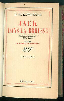 LAWRENCE DAVID HERBERT JACK DANS LA BROUSSE GALLIMARD 1938 FRANCOIS MAURIAC