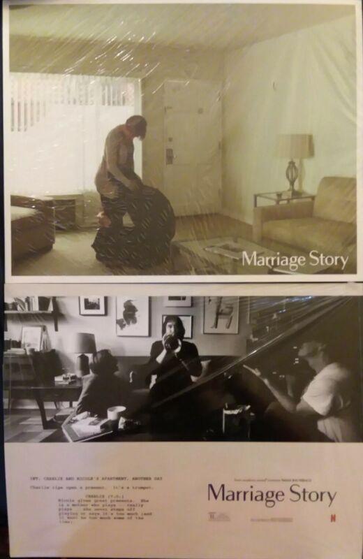 Marriage Story Lobby Card 5pc DoubleSided Set Scarlett Johansson Adam Driver NEW