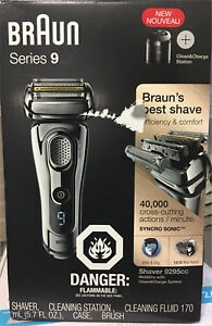 Braun Series 9 9295cc Men's Electric Foil Shaver, Wet and Dry