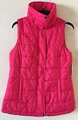 - ARIZONA JEAN Co. Women's Brilliant Rose Full Zip Vest Size Medium NWT